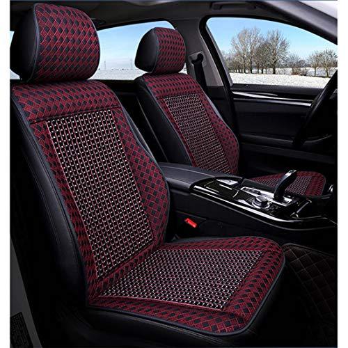 1Pc Holz Perlen Auto-Sitzabdeckung Allgemein Ventilator Kühl Massage gepasst für die meisten Autos, SUV, Van, MPV Autositzzubehör,Schwarz