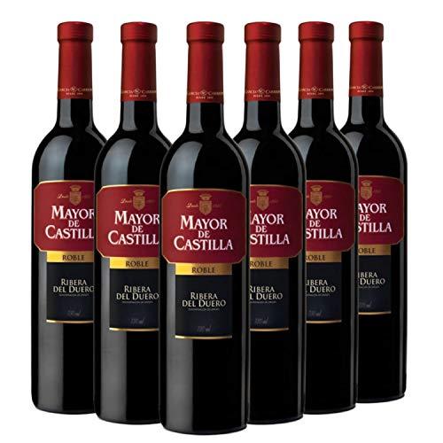 Mayor de castilla Vino - 6 Paquetes de 750 ml - Total: 4500 ml