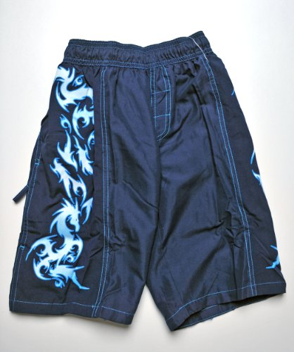 Speedo Jungen Badeshorts Sea Dragon Magic, perfekte Passform, chlorresistent, farbecht (Blau, XL)