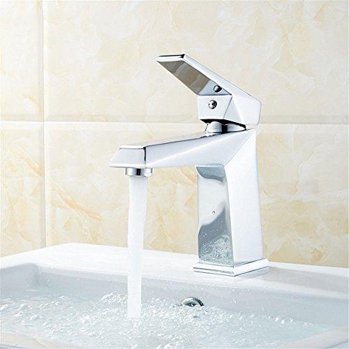 Mezclador de cocina grifo de cobre hogar grifo de apertura rápida grifo de lavabo baño encima de la cuenca de un solo agujero caliente y fría grifo de mezcla de agua con accesorios estándar de EE. UU