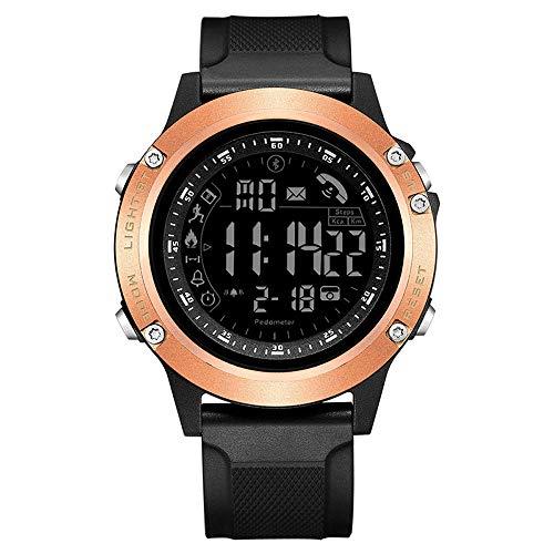 Reloj Elegante E-Fitness Sports Tracker Bluetooth Digital podómetro Impermeable a Distancia de la cámara de Llamadas o un recordatorio del Mensaje de notificación for iOS Android SmartWatch Hombres