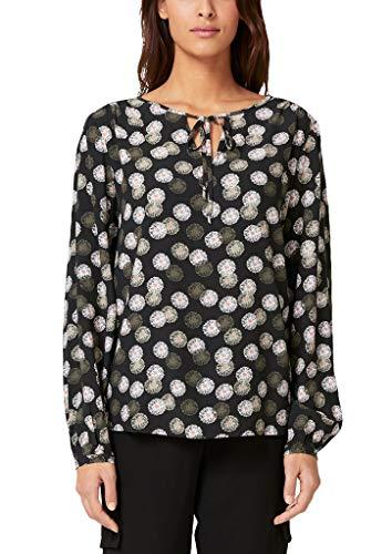 s.Oliver BLACK LABEL Damen 11.910.11.2488 Bluse, Grau (Grey/Black AOP 99a7), (Herstellergröße: 42)