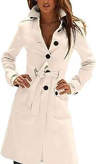FSSE Womens Winter Single Breasted Woollen Blend Warm Pea Coat Jacket Overcoat