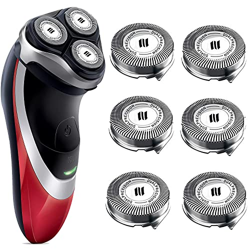 HQ8 Replacement Heads for Philips Norelco Shavers, Compatible with philips norelco Aquatec Shaving Head Razor, HQ8 Blades for PT730 AT880 AT811(6-Pack)