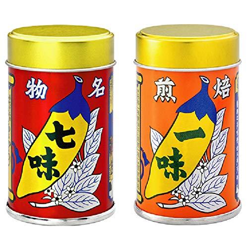 八幡屋礒五郎 七味唐辛子14g・焙煎一味12g(国産)セット