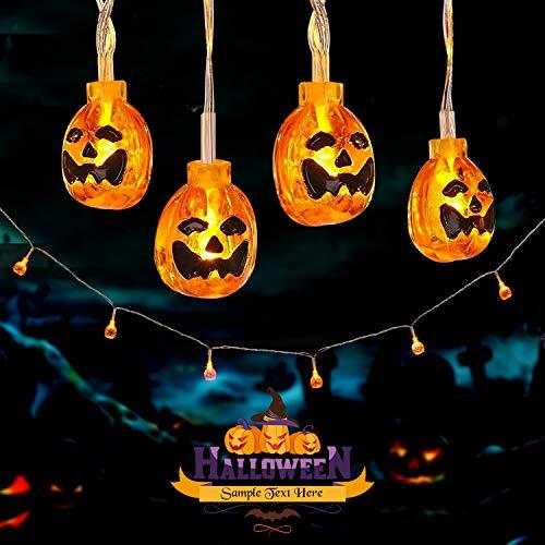 Avoalre Luci di Zucca 20 LED 3.5M Luci di Decorazioni di Halloween con 8 Modalità Stringa di Zucche 3D Mini Impermeabili IP44 per Halloween, Natale, Feste a Tema, Carnevale, Bianco Caldo