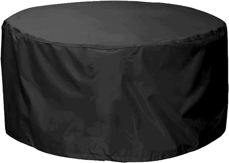 ZWYSL Cubiertas para Muebles de Jardín Cubo Apto para Parrillas de Barbacoa, Mesas Redondas Redondo Impermeable Funda de Ratán, 25 Tamaños, Personalizable (Color : Negro, Size : 250x110cm)