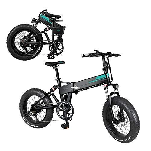 Coolautoparts Bicicleta Eléctrica Plegable Ruedas Anchas 20 x 4 Pulgadas 250W 30km/h Bicicleta de Ciudad/Montaña Ciclomotor de 3 Niveles de Aceleración Bateria Litio Display LCD Adultos [EU Stock]