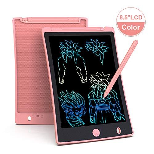 Arolun Tableta de Escritura LCD 8.5 Inch Colorida, LCD Tablero de Dibujo Gráfica Pizarra Magica de Mensaje Memo Pad Electrónico con Lápiz Regalos para Niños,Clase,Oficina,Casa,Cocina (Rosa)