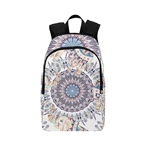 DKGFNK Casual Messenger Bag for Men Indian Ethnic Elephant Geometric Durable Water Resistant Classic Best School Bags College Bags Women Womens Daypack Backpack Sports Travel Bag
