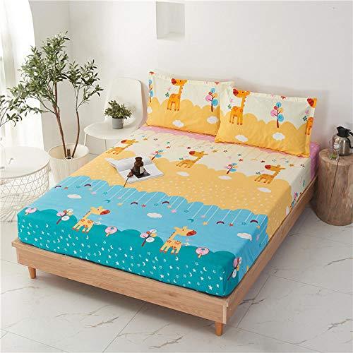 HPPSLT Sábana Ajustable súper Suave, cálida y acogedora La sábana es a Prueba de Polvo y espesa-18_90 * 200 + 25cm