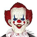 Amakando Gruselige Latex-Maske böser Clown / Horrorclown Gesichtsmaske für Erwachsene / Genau richtig zu Gruselparty & Halloween