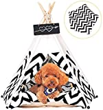 arkmiido pet teepee dog & cat bed with cushion- luxery dog tents & pet houses with cushion &