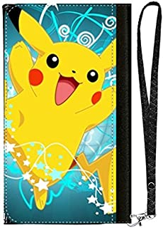 LookSeven Cell Phone Wallet Case,Pikachu Pattern All-in-One PU Leather with Multiple Pockets,Card Holder,Wrist Strap for iPhone Samsung LG Android Smart Phones #05