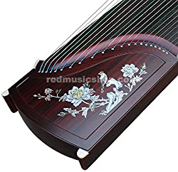 Professional Red Sandalwood Guzheng, Chinese 21-string Zither