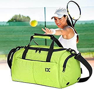 BEESCLOVER Large Capacity Outdoor Sports Bag Traveling Luggage Handbags Shoulder Bag Waterproof Polyester for Fitness Training Gym Yoga