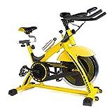 WJFXJQ Bicicleta estacionaria Bicicleta estática, Aparato electrónico LED, sólida y Estable fácil de Mover cómodo Mango Antideslizante, Pedales Ajustables Ejercicio Fitness Equipment
