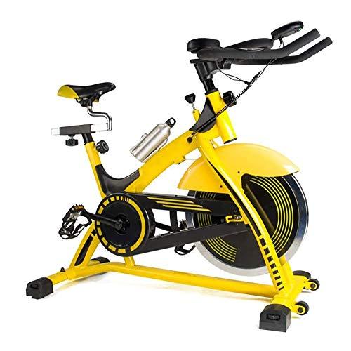 WJFXJQ Multifuncional Bicicleta estática, sólida y Estable, con Pantalla LCD, fácil de Mover, cómodo Mango Antideslizante, Pedales Ajustables Ejercicio Fitness Equipment