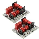 MERIGLARE Divisor de Frecuencia de 2 Piezas para Sistema de Audio con Altavoces de 3 Vías, 93x73x33mm