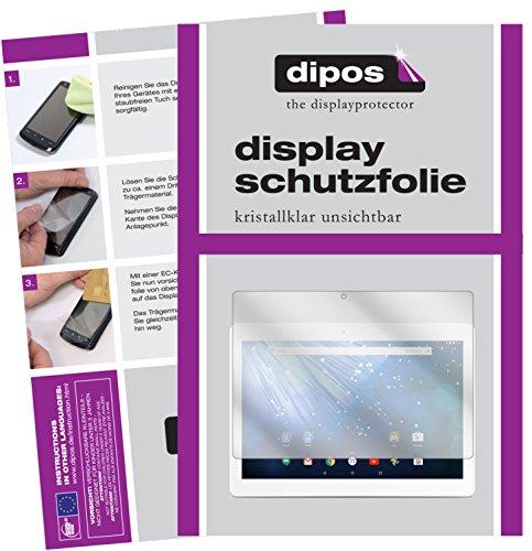 dipos I 2X Schutzfolie klar kompatibel mit Trekstor Surftab Breeze 10.1 Quad 3G Folie Bildschirmschutzfolie