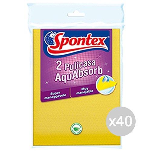 Set 40 SPONTEX Cloth Pulicasa Aquabsorb X 2 Outil De Nettoyage Maison