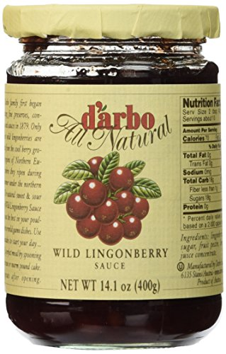 D'arbo Lingonberries In Jars, 14.1 Ounces
