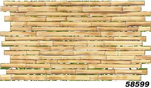 1 Platte | Dekor Paneele | Holzoptik | Wand | PVC | stabil | 95,5x50,7 cm | 58599