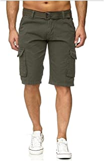 Mogogo Men's Half Pants Multi-Pockets Camo Cargo Short with Side Pockets