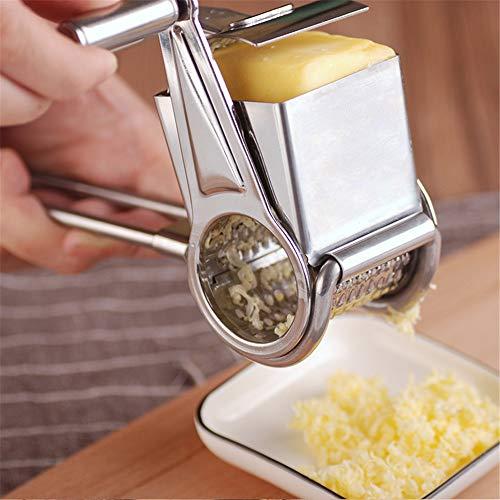 Rallador de queso de acero inoxidable, rallador de queso, rallador de queso, rascador de chocolate y verduras