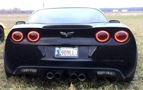 C6 Corvette Eagle Eye LED Halo Tail Lights
