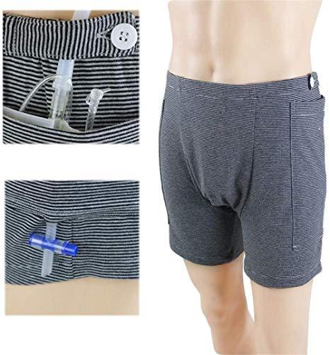 Pantalones para el Cuidado de la incontinencia Ropa Interior con catéter para Ancianos Bolsa de Drenaje de orina Pantalones Cirugías Abdominales Bolsa de Drenaje de ostomía para Pacientes Ropa de