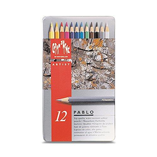 Caran d'Ache Pablo Lot de 12 crayons de couleur