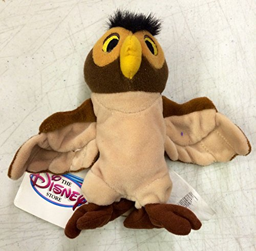 Disney Store Winnie The Pooh Owl 7' Mini Bean Bag Plush Doll