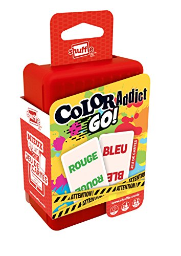 Shuffle- Color Addict Go-Jeu de Cartes, 410403