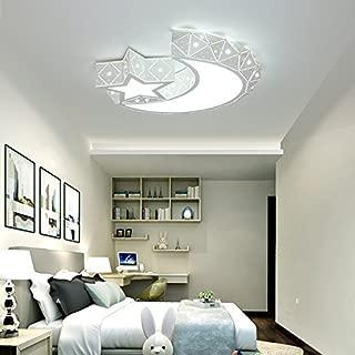 LightInTheBox Chic & Modern LED Flush Mount Ceiling Light Chandeliers Moon Star Shape Lighting for Living Room Bedroom Kids Room 960lm Bulb Included (White)