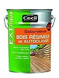 CECIL PRO 070703 HUILES Sol Saturateur bois résineux et autoclavés, Incolore, 5L