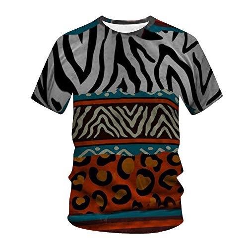 MINYING Tee Shirt Homme Manche Court Col Rond Imprimé Homme T Shirt Vintage Blouse Sport Tendance Streetwear Printemps et été 2021 Nouveaux Cadeau Noël Elégant Chic Rétro Long