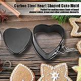 Oumefar Herzförmige Backform Antihaft-Kuchenform für Honigkuchen für die Bäckerei