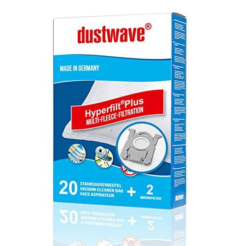40 bolsas de aspiradora + 4 filtros de microfieltro de varias capas para AEG, Philips y compatible con AmazonBasics A11 – dustwave – Bolsas para el polvo fabricadas en Alemania