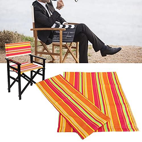 01 1 Set Casual Director Chair Cover Kit, Ersatz Canvas Sitz und Rückenlehne Baumwolle Canvas Hocker Protector für Home Director Chair Medium Size (Canvas + Holzstab) (Farben)