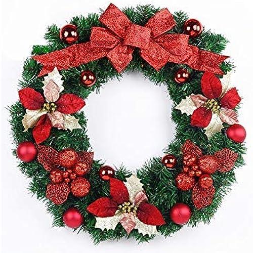 ¡envío gratis! Seba5 Home Flor Creativa Guirnalda de Navidad Adornos para Colgar Colgar Colgar en la Puerta Habitación Colgantes de árboles de Navidad para decoración (rojo) Regalo  en venta en línea