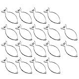 com-four® 18x Rouladenklammern aus Edelstahl - premium Klammern im Set (18 Stück - Klammer)