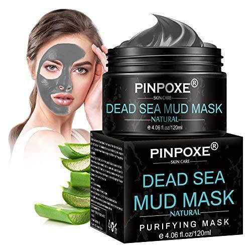 Blackhead Remover Maske, Mitesser Maske, Totes Meer Schlamm Gesichtsmaske, Schwarze Maske und gegen Akne,Anti Pickel,Anti-Aging Pflege für trockene und unreine Haut Schlamm Maske für Gesicht Körper