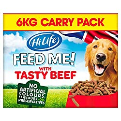HiLife Feed Me! Beef & Cheese Dry Dog Food 6kg 6kg HiLife Quantity: 1