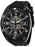 Invicta Men's Aviator Stainless Steel Quartz Silicone Strap, Black, 32 Casual Watch (Model: 28078)