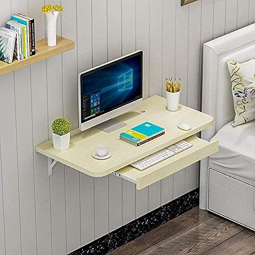 Escritorio Plegable para computadora Mesa Plegable Mesa de Comedor montada en la Pared para Estudio Dormitorio Baño Escritorio de Estudio de Hoja abatible Mesa montada en la Pared Banco de Trabajo-Be