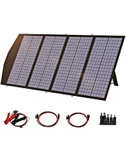 ALLPOWERS 120W Portable Solar Panel Charger for Laptop Cellphone, Waterproof IP66 Foldable Solar Panel with MC- 4, DC, and USB Output, for Solar Generator, Power Bank, 12V Car Battery