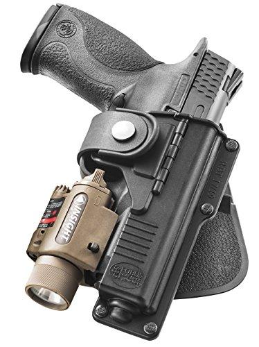 Fobus Nouveau Report dissimulé rétention réglable Pistolet étui avec Sangle de sécurité pour Glock 19, 23, 32 / Smith et Wesson S&W M&P 9mm & .40 Cal, M&P Pro polymère Noir