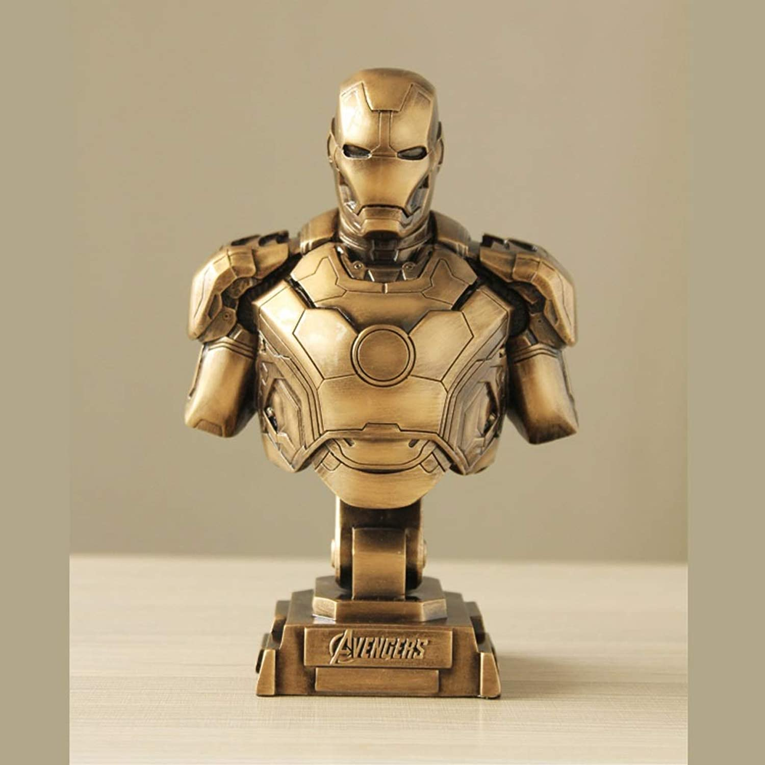 IVNGRI Iron Man Statue Model Decoration Festival Birthday Gift Toy Collector(23cm) (color   gold)