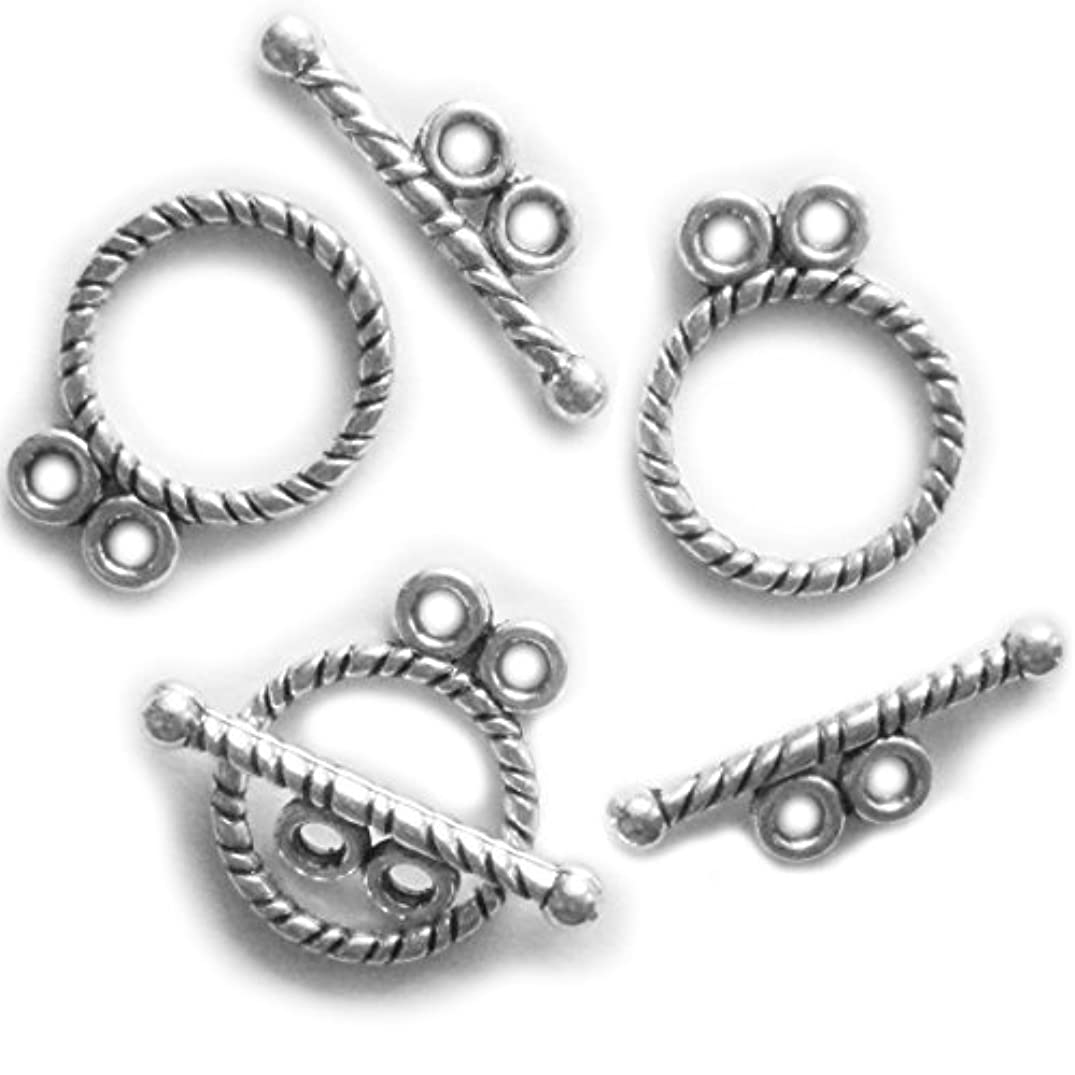 Heather's cf 80 Set Silver Tone 2 hole Clasp Toggle Findings Jewelry Making